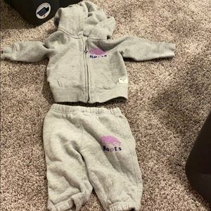 3-6 month baby girl roots sweatsuit